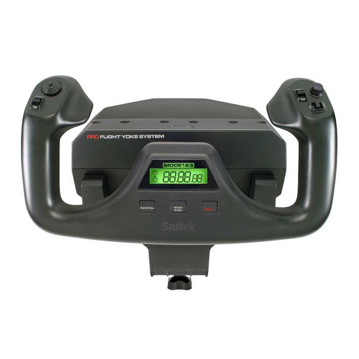SAITEK PRO FLIGHT YOKE SYSTEM.  El sistema de vuelo Saitek Pro Flight Yoke está diseñado para satisfacer las exigentes y necesidades de los entusiastas de la simulación de vuelo. Incorpora un eje de acero inoxidable, controles ergonómicos, cronógrafo integrado y cuadrante de aceleración por separado que garantizan una experiencia de vuelo suave, precisa y totalmente realista.   Precio 135.00€