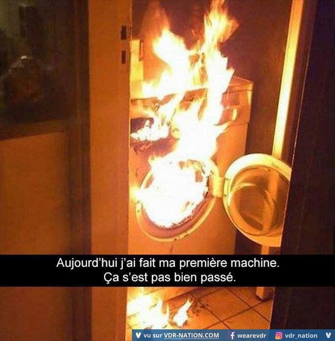 Qu'est-ce que le feu viens foutre dans une machine à laver ! ?