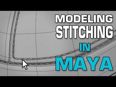 Modeling Stitching in Maya using MASH and Curve Warp Deformer