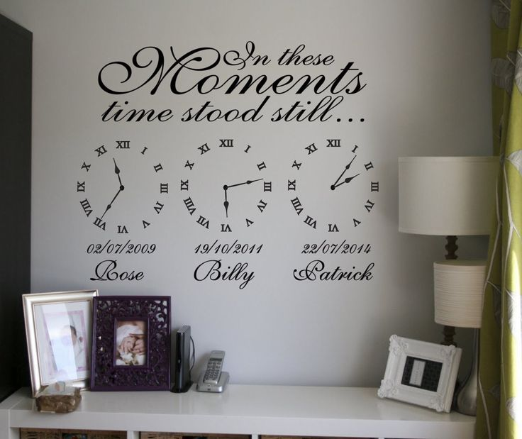 Time stood still memory clocks | In these moments time stood still | Memory Clocks | Date of birth clock | wall art | custom orders| Express Yourself Decals