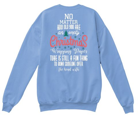 Christmas Fashioin Light Blue  T-Shirt Back