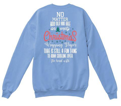 Christmas Fashioin Light Blue  T-Shirt Back