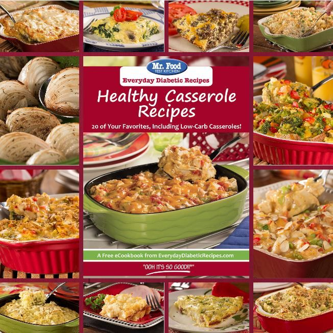 Healthy Casserole Recipes: 20 of Your Favorites, Including Low-Carb Casseroles! - This free eCookbook features casserole recipes the whole family will love, including a low-carb pizza casserole, tuna casserole, chicken casseroles, vegetarian casseroles, and more!
