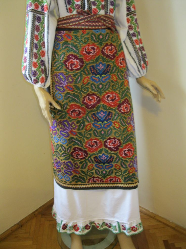 Antique traditional hand made Romanian wrap skirt .For sale at www.greatblouses.com
