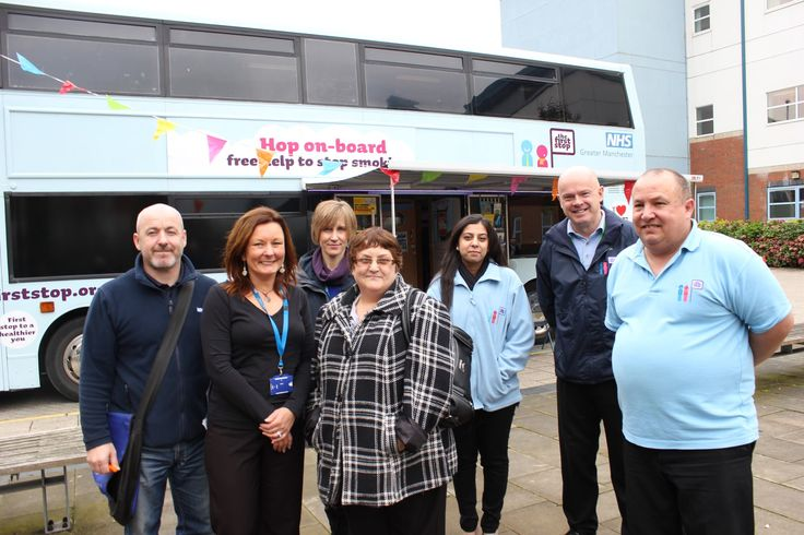 The Greater Manchester Health Bus is outside Stepping Hill Hospital today (Monday 29th October) - offering free health advice and tests to everyone.