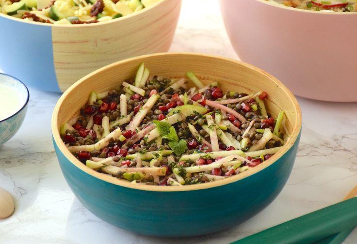 Buffet de salades - Salade lentilles, grenade & Granny Smith