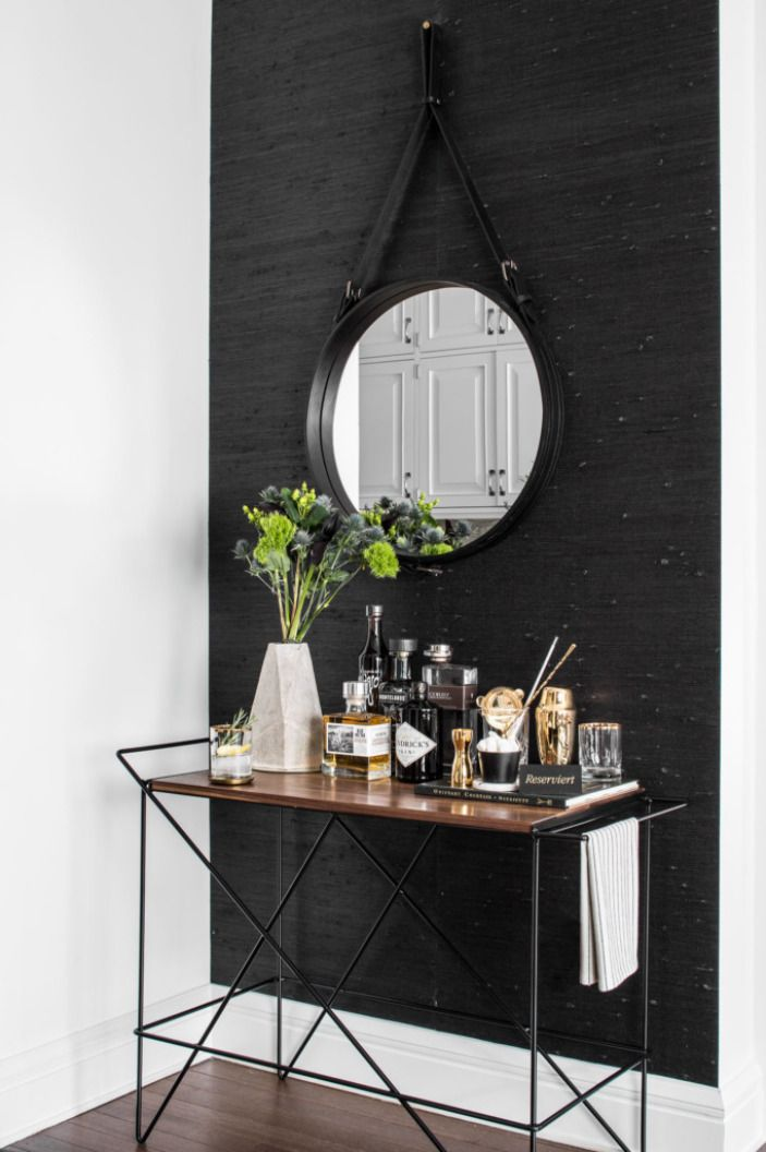 No bachelor pad would be complete without a well-stocked bar. This one happens to be from Greta de Parry. (Alcohol not included.)