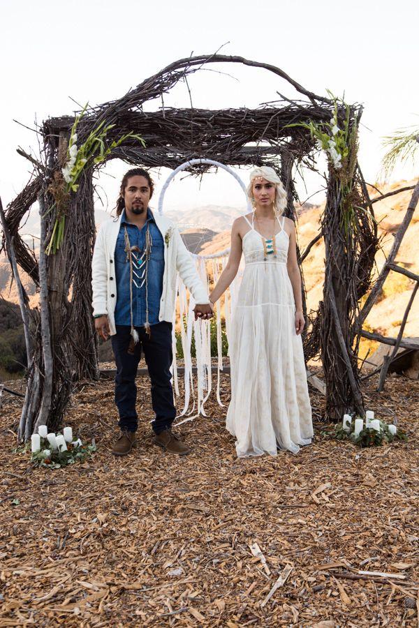 Giant Dream Catcher Under Wedding Arch Nativeamerican