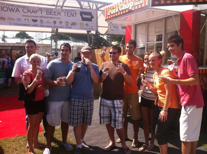 OSM team took on the Iowa State Fair Friday and the Pork Chops on a Stick! What's your favorite fair food?   www.onesocialmedia.com