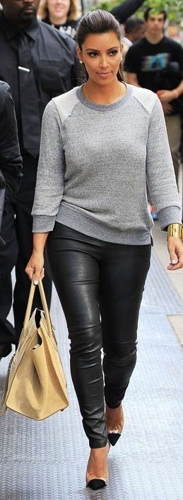 Not a fan of Kim K, but love this look - simple
