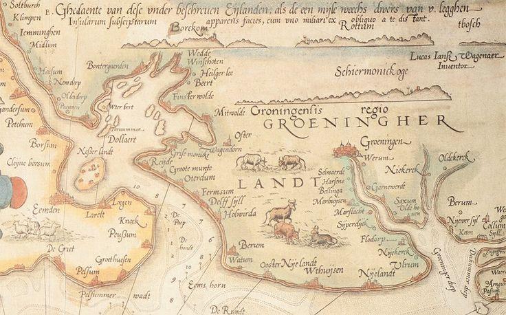 Oude kaart Groningen