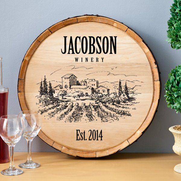 Vineyard Wine Barrel Decor