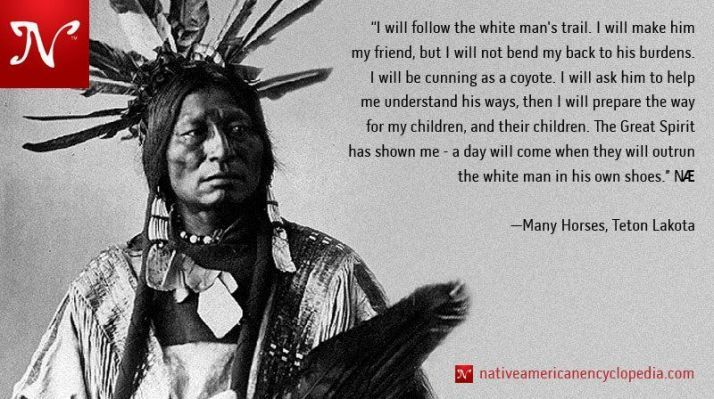 Sorrow And A Great Sense Of Grief As The American Native Indian
