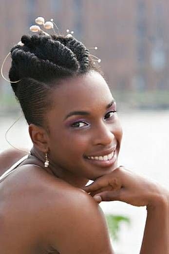 Cute Wedding Updo Hairstyles For Black Women Natural