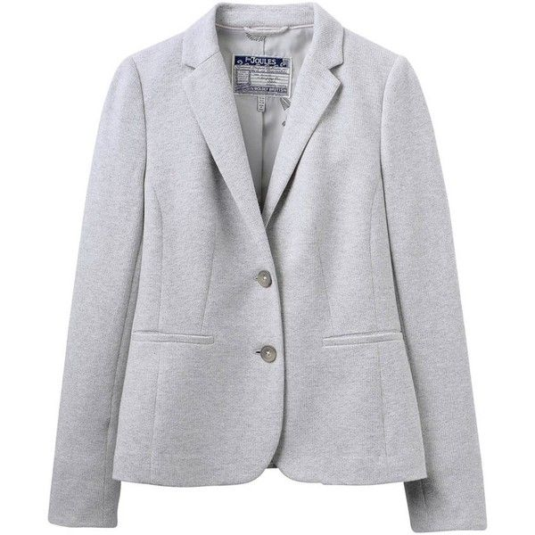Women's Joules Olivia Jersey Tweed Blazer (265 PEN) ❤ liked on Polyvore featuring outerwear, jackets, blazers, blazers jersey, tweed jacket, joules blazer, wool tweed blazer and jersey blazer