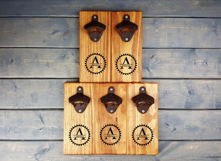 Groomsmen Gift Set of 5, Bottle Openers, Personalized Bottle Opener, Custom Engraved, Font, Letter, Last Name, SET OF 5