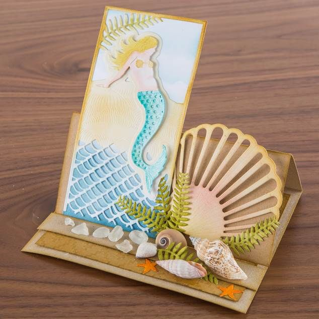 This design from the Sea Siren Collection sure sets the beach scene! Shop the range now: http://www.createandcraft.tv/papercraft/dies+and+storage/dies/couture+collection--sea+siren.aspx?icn=Sea_Siren&ici=Couture_Sea_Siren #papercraft #cardmaking
