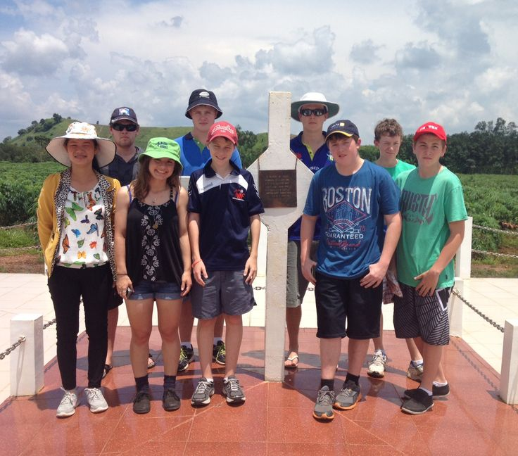 The Long Tan Cross; one of only two memorials to foreign adversaries that have been permitted by the Vietnamese Government.#VietnamSchoolTours #LongTanCross