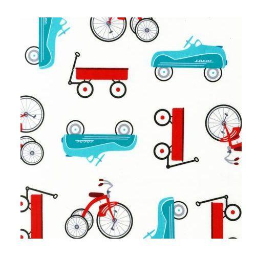 Robert Kaufman Retro Racers White AMT 14453 1 Fabric Bicycles Bike Wagon | eBay