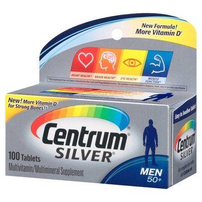 Centrum Silver Men's Multivitamin Tablets - 100ct