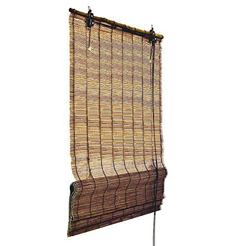 Superb Bamboo Roman Shade Window Blind cm wide and cm long Brown Privacy