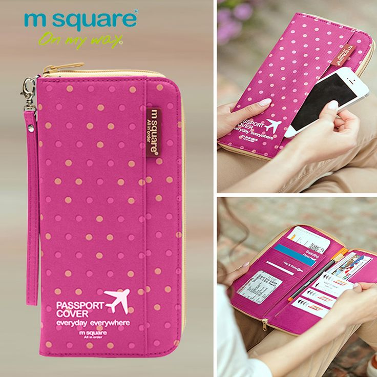 M Square Passport Cover Travel Wallet Document Passport Holder Organizer Cover on The Passport Women Business Card Holder ID * Click the image to visit the website