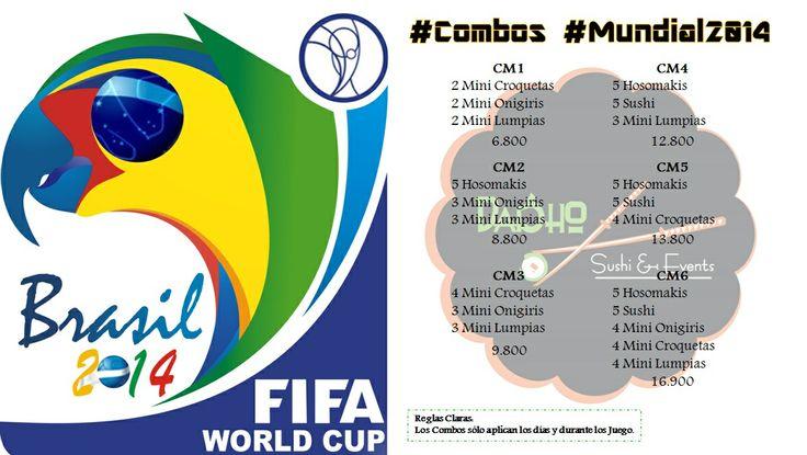 Mirá todo los #combos   #mundial2014  que hemos preparado para ti....  OJO: solo los dias y durante el juego!