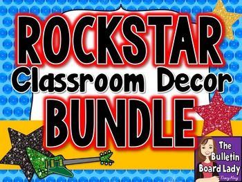 Get your classroom ready to ROCK with this bundle of rock star themed classroom decorations.  You save 50% off the price of these products separately!  Heres whats included in this download (click the links to see more details):Alphabet Posters-Rockstar ThemeRock through the ABCs with this set of Alphabet posters.