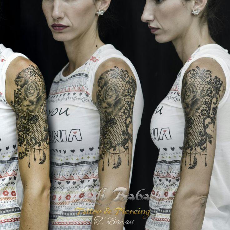 Bodrum dövme bodrum tattoo lace tattoo dantel Dövmesi rose tattoo gül dövmesi body art ink tattoo turan baran ali baba tattoo