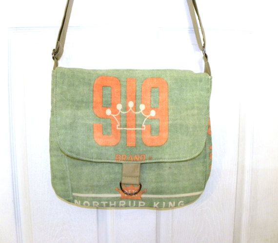 Northrup King 919 Vintage alfalfa seed bag upcycled by LoriesBags