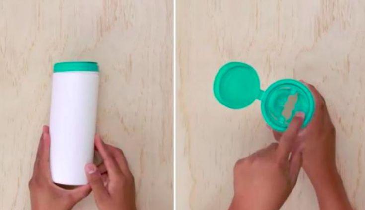 Une manière ingénieuse de réutiliser un pot de lingettes pour bébé ! - Des idées