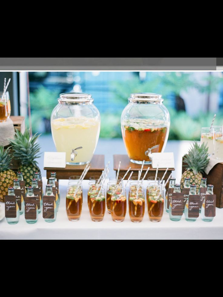 Great idea for a drink station at any event or party outdoor quirkiness!