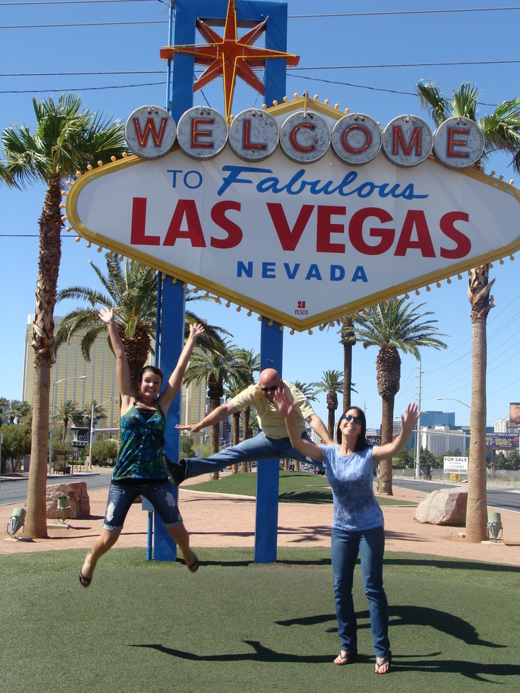 Being silly in Las Vegas, Nevada