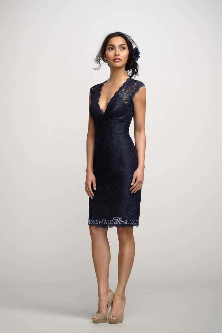 25 best bridesmaid dresses images on pinterest lace bridesmaids cheap navy v neck lace cap sleeves knee length bridesmaid dress is on sale buy navy v neck lace cap sleeves knee length bridesmaid dress at bridesmaidwire ombrellifo Choice Image