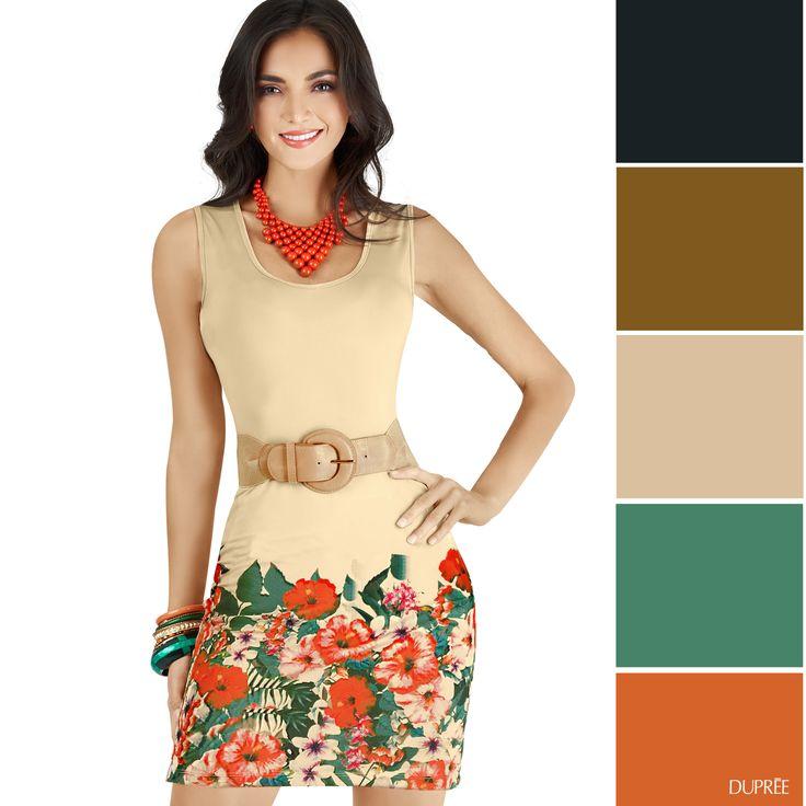 Combinar vestido de flores. Dupree