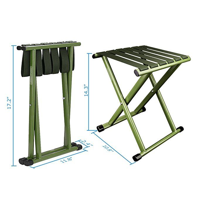 TRIPLE TREE Super Strong Portable Folding Stool, Heavy Duty