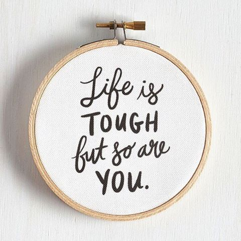 Because it's #humpday and life is tough sometimes. Tag a friend who needs to hear these words of encouragement this week! You can also buy this wall decor piece when you click on the link in our profile.