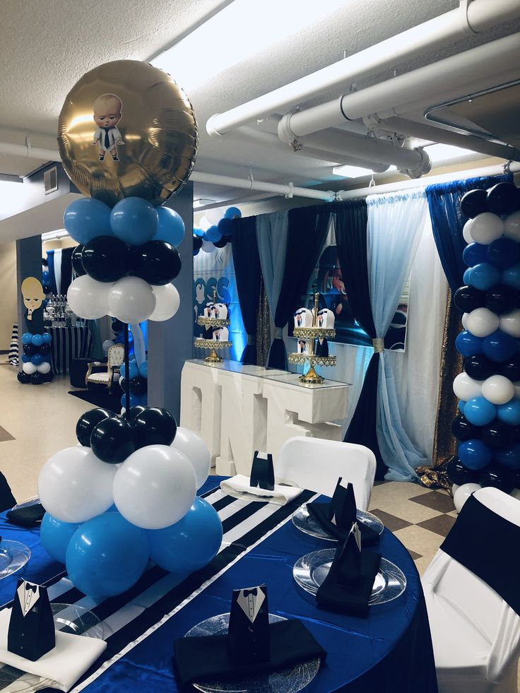 Boss Baby Centerpieces In 2019 Baby Birthday Decorations