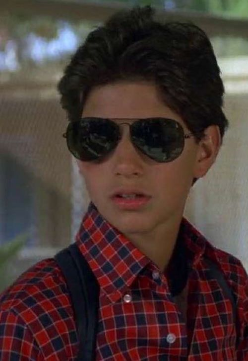 Karate Kid Daniel LaRusso - 1980s movies - Ralph Macchio - with sunglasses. From http://www.writeups.org/daniel-larusso-karate-kid-ralph-macchio/