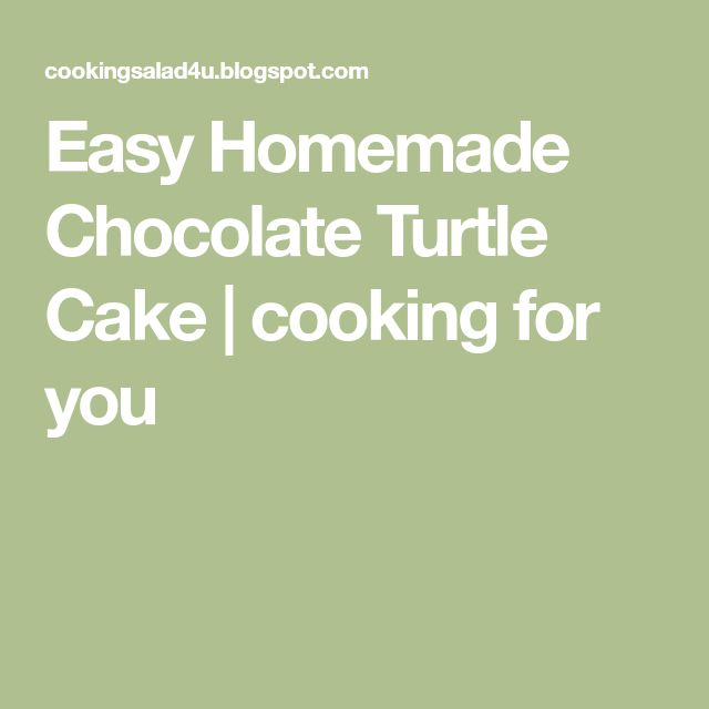 Easy Homemade Chocolate Turtle Cake | cooking for you