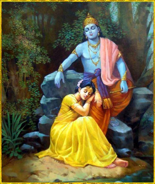 """HINDUISMO  - 47. Da série: Manifestações da Shakti - """" O amor entre Radha e Krishna tem um significado esotérico, representando um amor divino e não mundano.""""   (Fonte: Roberto de A. Martins, para o site Shri Yoga Devi.)"""