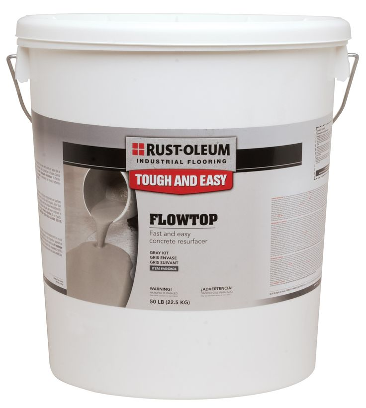 "Flowtop® Concrete Resurfacer-High strength self leveling compound for resurfacing damaged or uneven concrete floors. Fiber reinforced formula is ideal for forklift traffic and general industrial use, at just 1/8"" thick. Simply pour a new floor with a slip resistant and non-dusting finish. Ready for foot traffic in 6 hours. *Primers included."