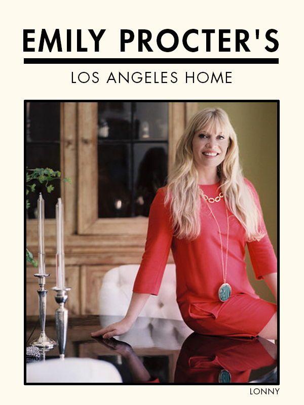 Csi Miami Star Emily Procter S Los Angeles Home Celebrity Houses Los Angeles Homes Emily