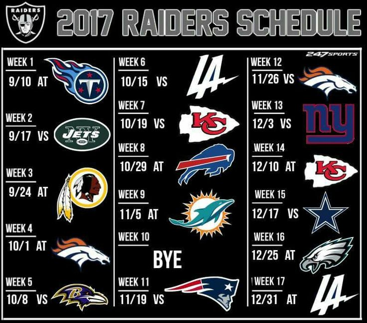 2017 Raiders Schedule