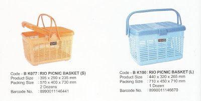 Selatan Jaya distributor barang plastik Surabaya: Keranjang piknik plastik RIO BK077 dan BK100 produ...