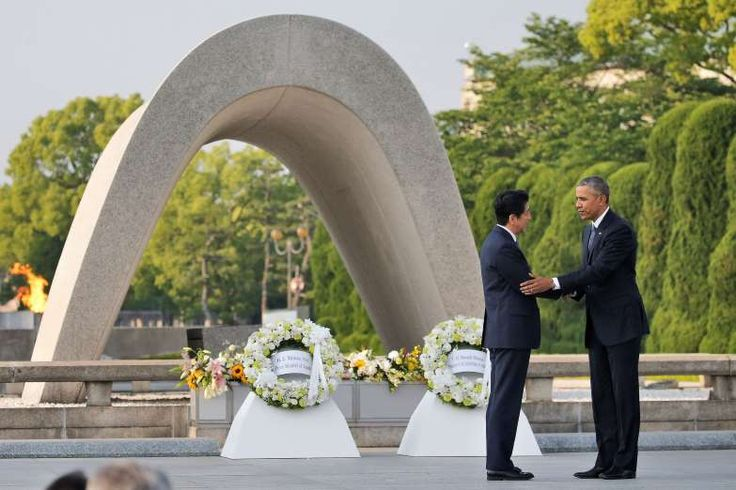 May 27,  2016: OBAMA BECOMES FIRST AMERICAN CHIEF EXECUTIVE TO VISIT HIROSHIMA  -    President Barack Obama becomes the first American chief executive to visit Hiroshima, the city where the U.S. dropped the first atomic bomb during World War II, declaring it a fitting place to summon people everywhere to embrace the vision of a world without nuclear weapons.