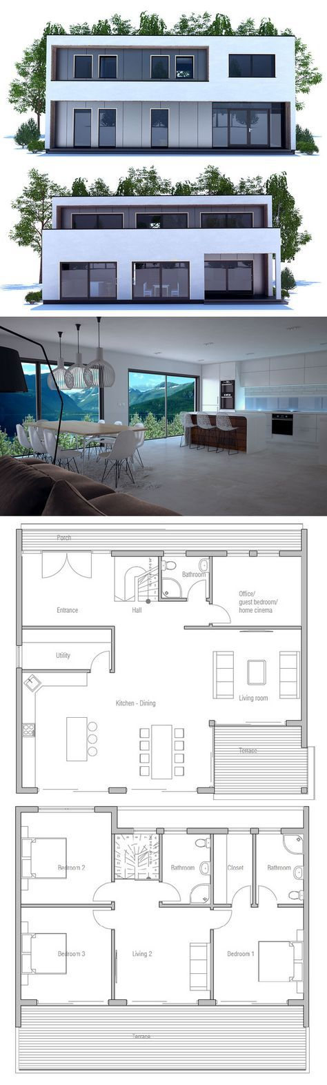 11 best Plan images on Pinterest Architecture, Bamboo and Beautiful - plan de maison simple