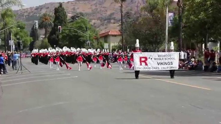 Redwood Middle School Marching Band @ the 2015 Fillmore May Festival Parade