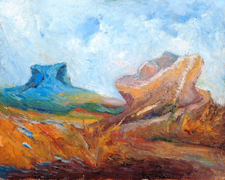 PAOLO SALVATI - Titolo: Arca di Noè - fronte Pietra Blu, Anno: 1970,  Tecnica: Olio su cartone telato.