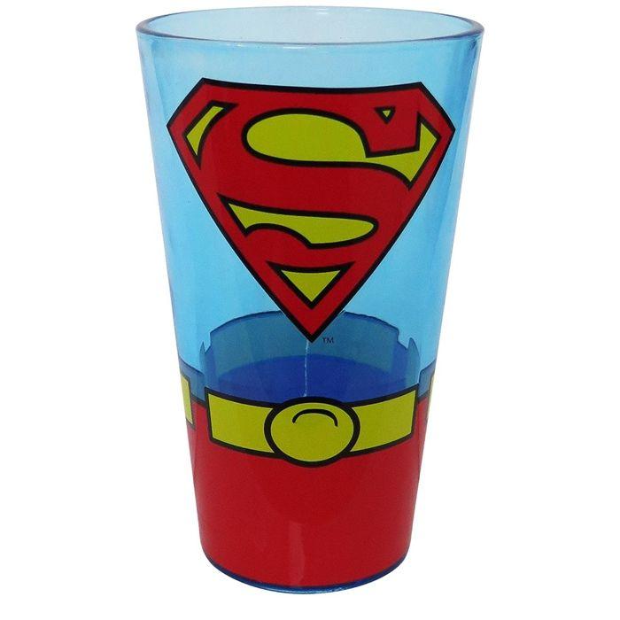 Superman Classic Costume Pint Glass
